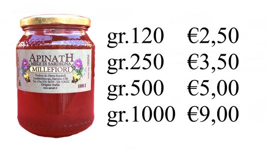 miele millefiori sardo costo ESCAPE='HTML'